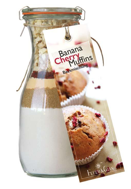 Banana Cherry Muffins  Mini ( 250 ml)