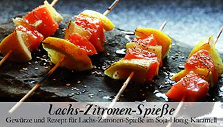 Lachs-Zitronen-Spieße