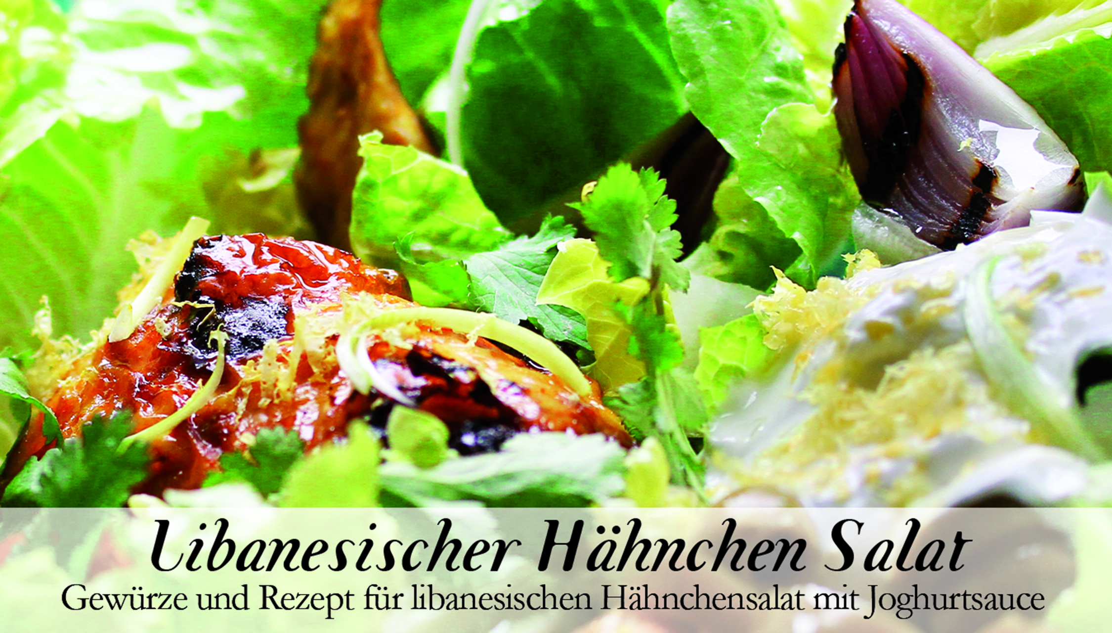 Libanesischer Hähnchen Salat