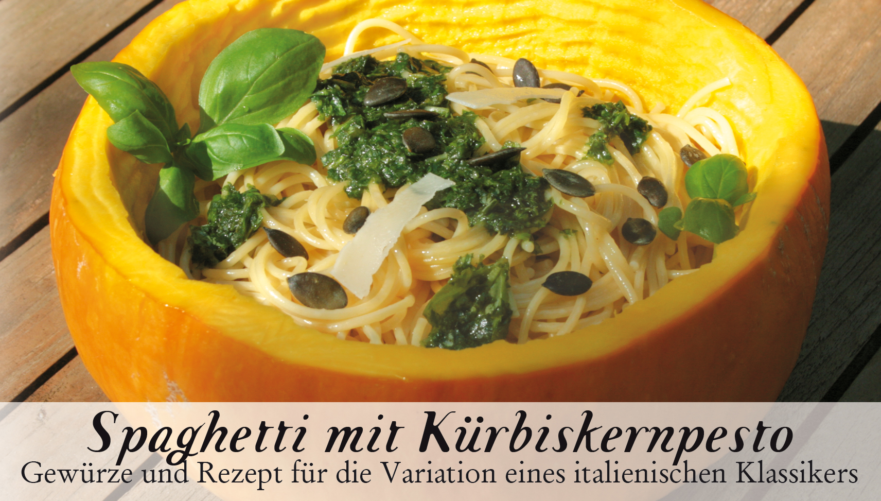 Spaghetti mit Kürbiskernpesto