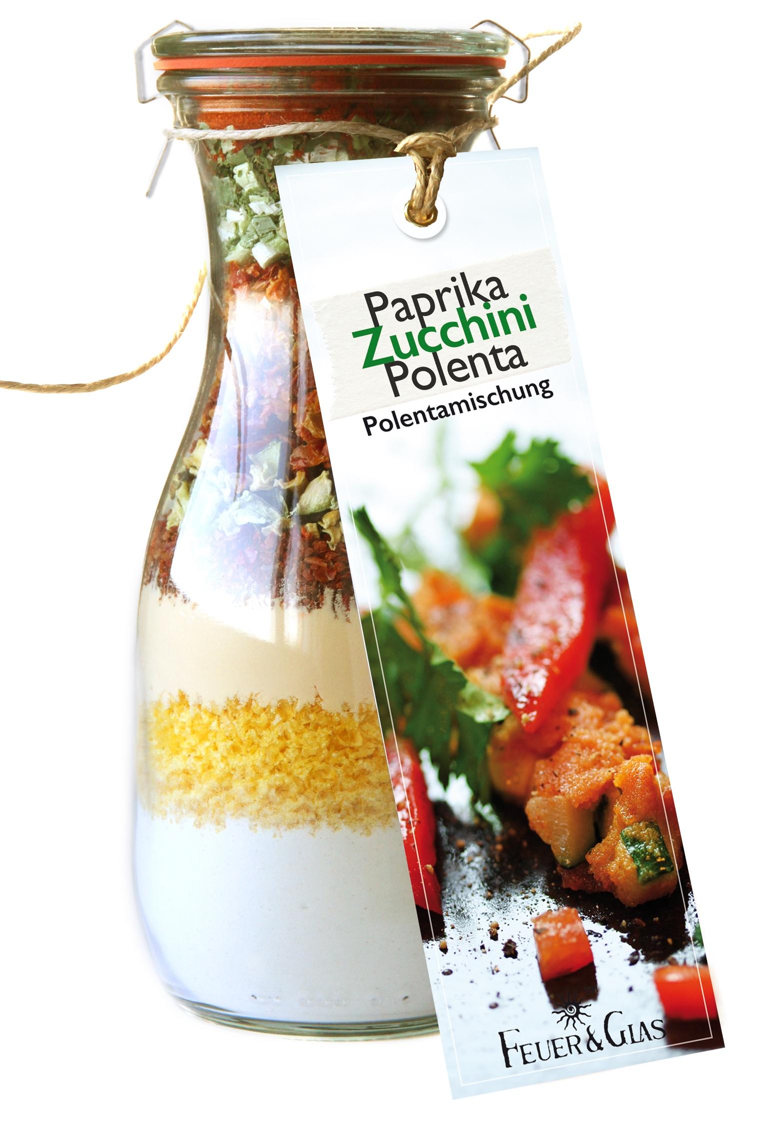 Paprika Zucchini Polenta  in der Weckflasche 500ml
