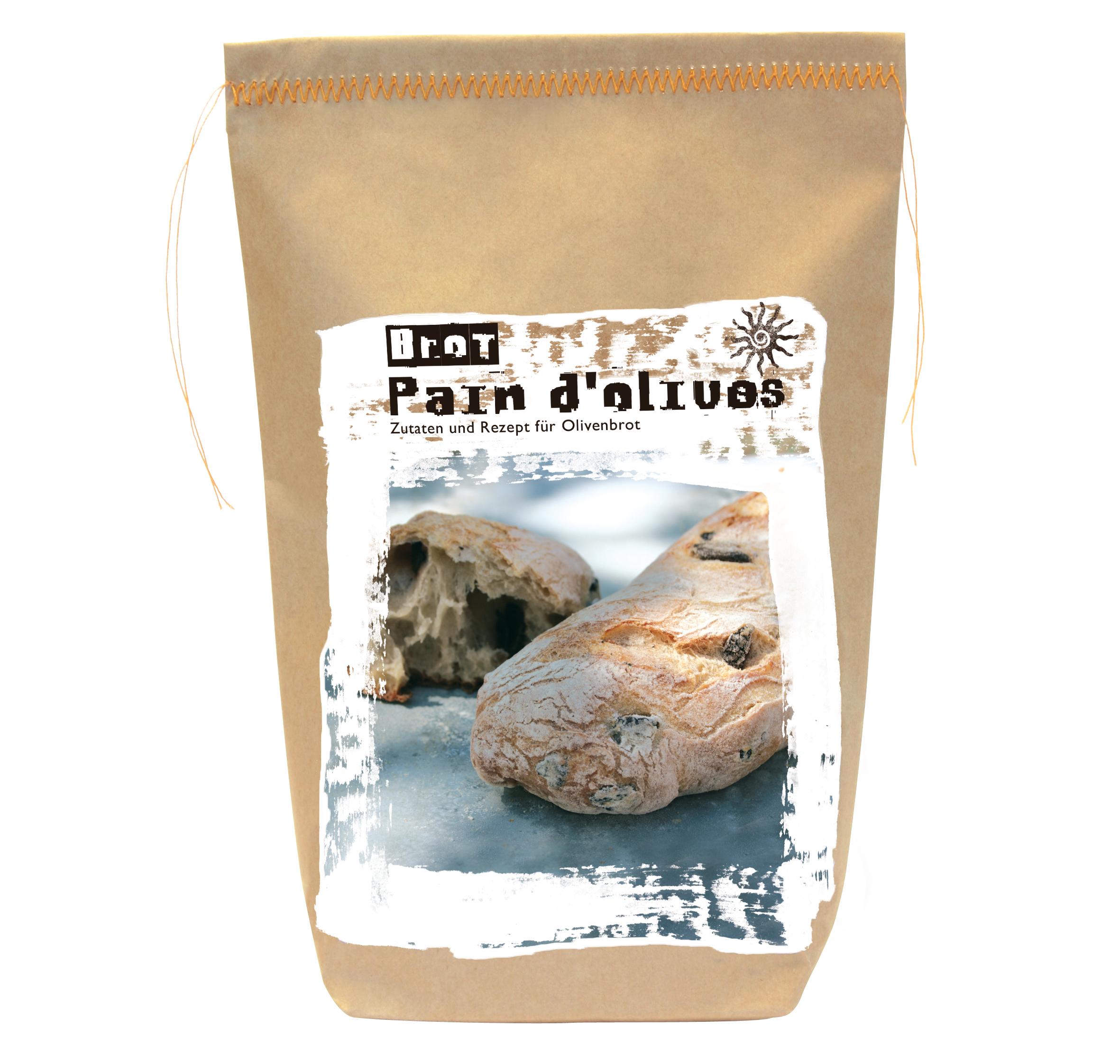 Pain d'Olives - Backmischung für französisches Olivenbrot
