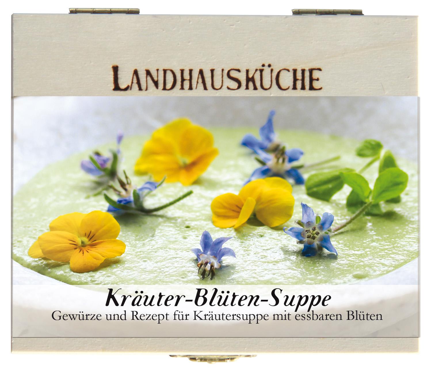 Kräuter-Blüten-Suppe