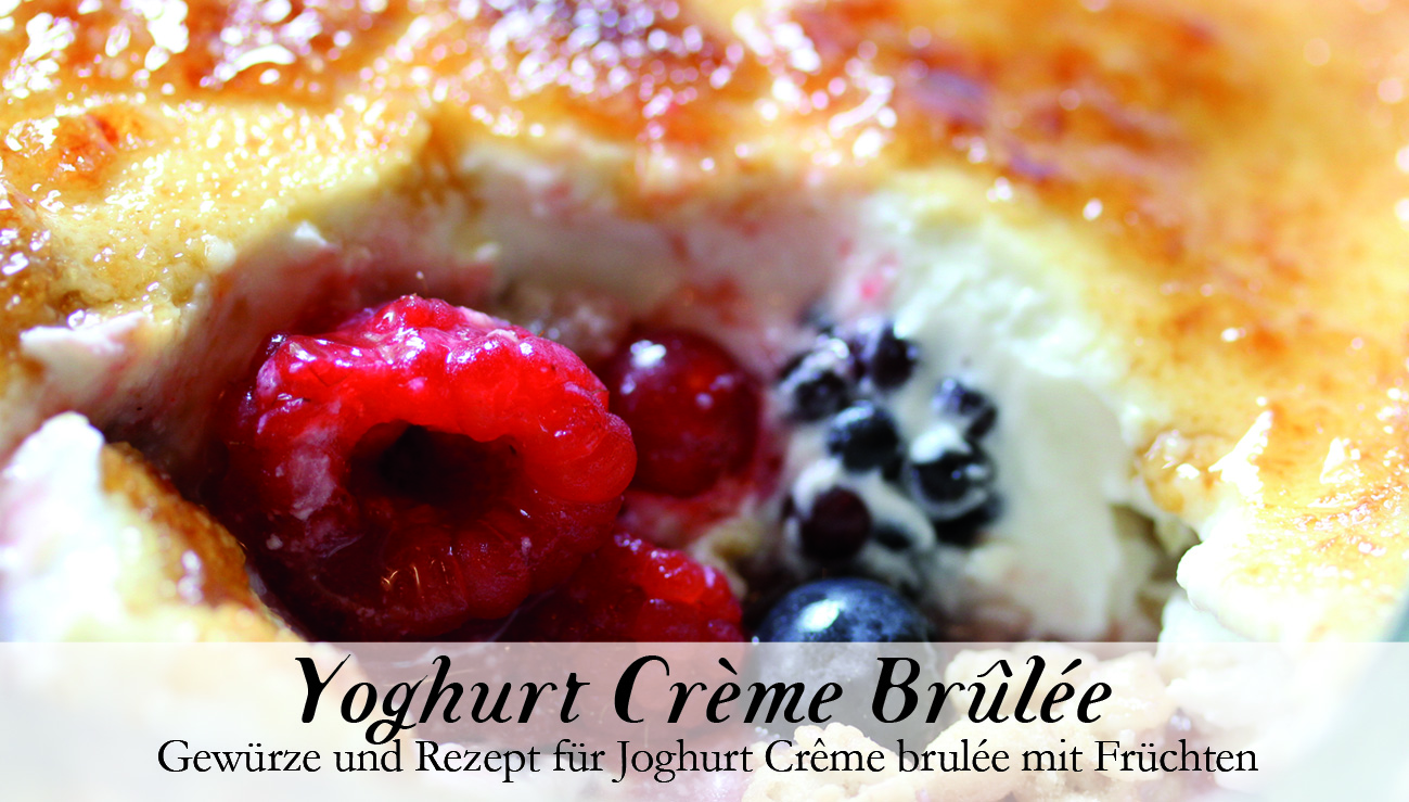 Yoghurt Crème Brûlée-Gewürzkasten