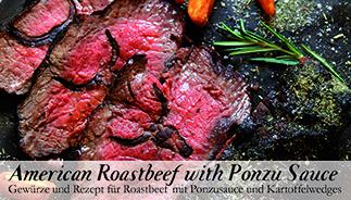 American Roastbeef with Ponzu