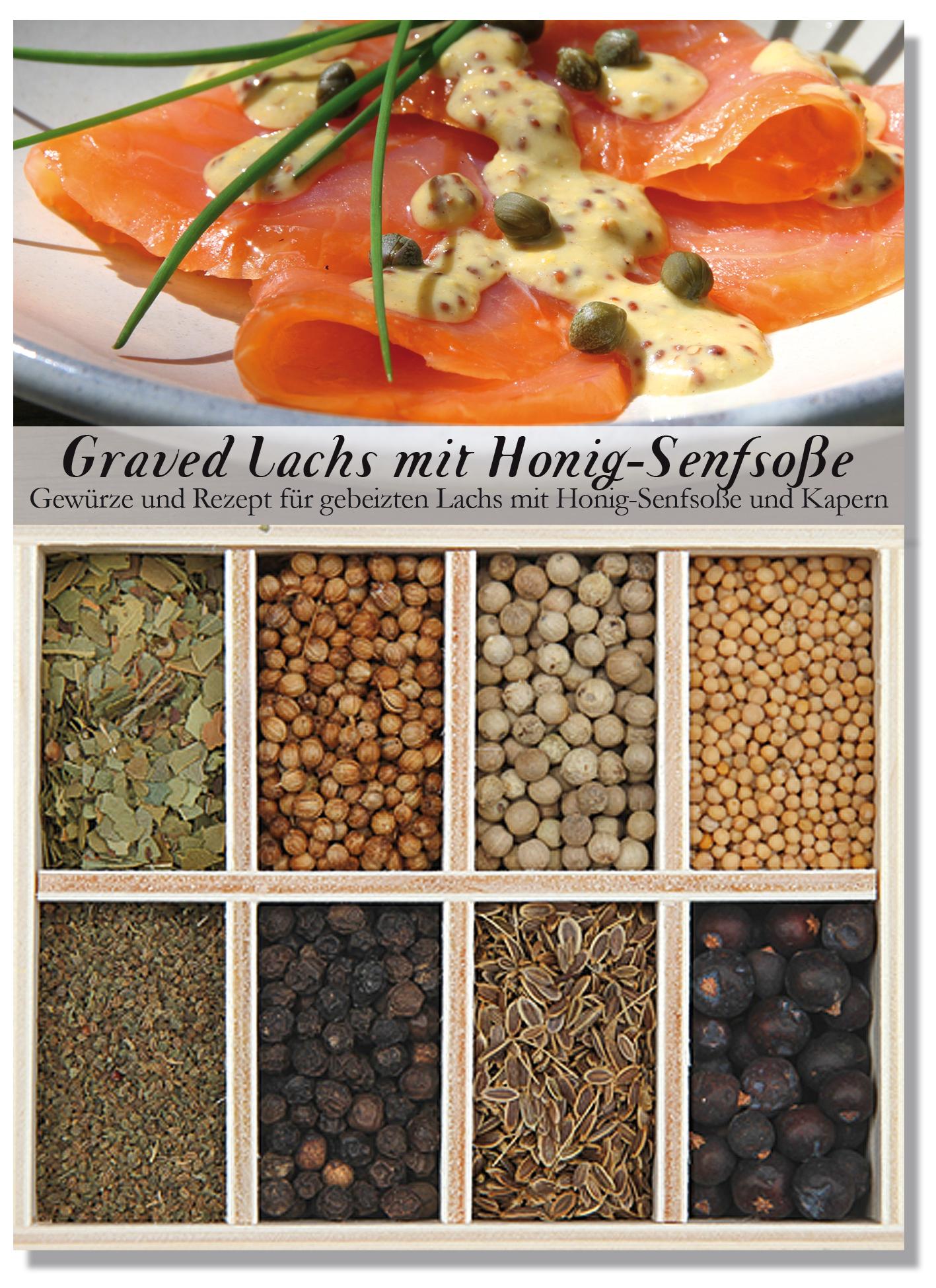 Graved Lachs mit Senfsauce