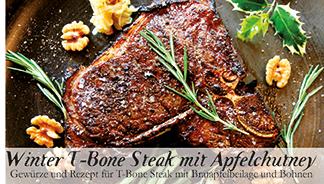 Winter T-Bone Steak mit Apfelchutney
