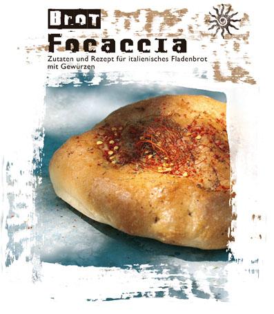 Focaccia - Backmischung für italienisches Fladenbrot mit Gewürzen