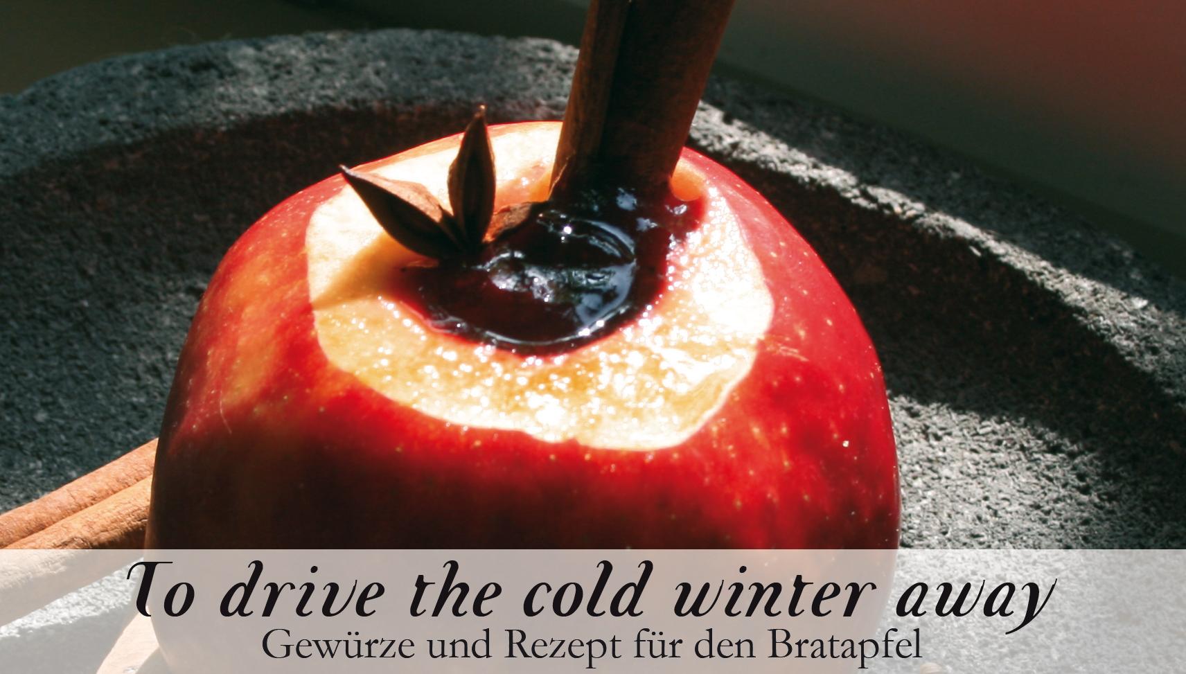 Bratapfel - To drive the cold Winter away-Gewürzkasten