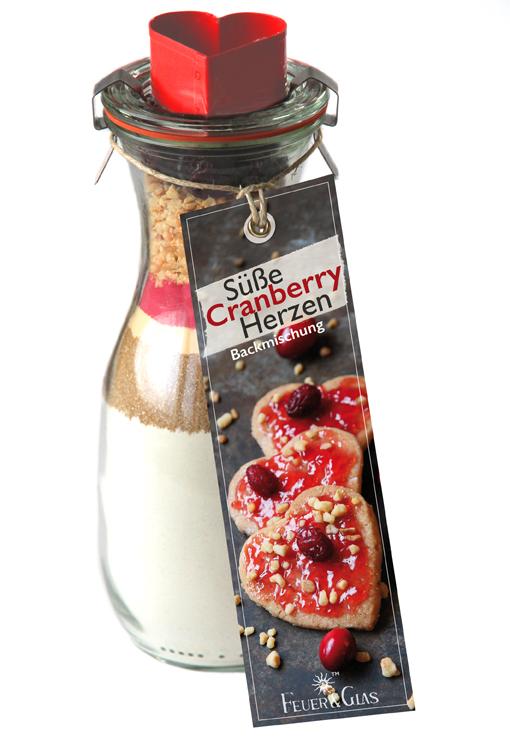 Süße Cranberry Herzen
