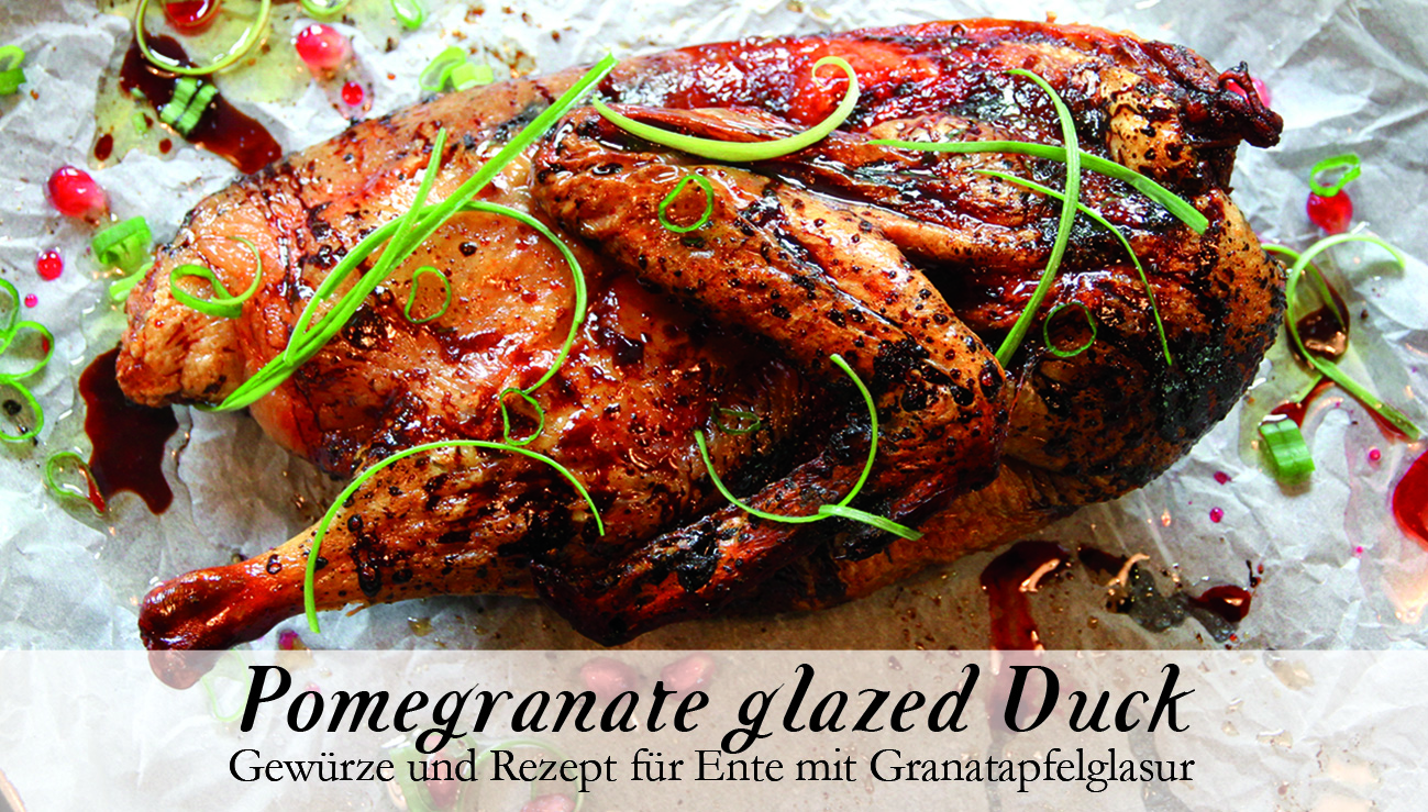 Pomegranate glazed Duck