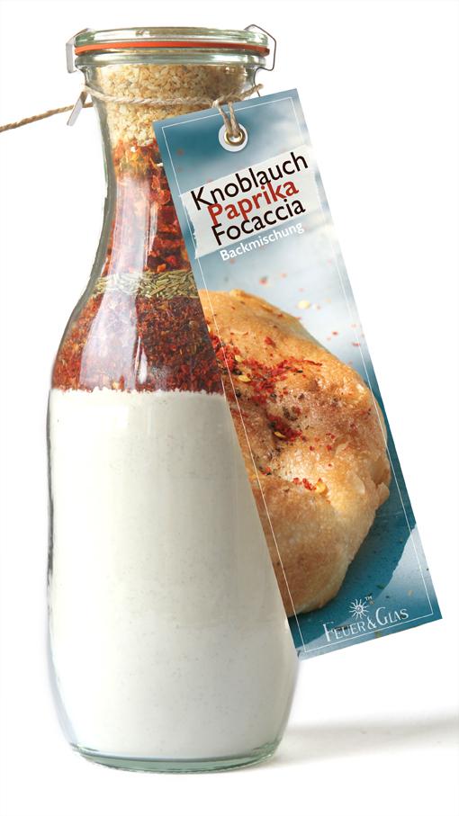 Knoblauch Paprika Focaccia